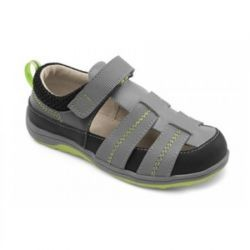 2015 Spring Christopher II Fisherman Sandals in Grey by #SeeKaiRun - Anchors aweigh! These black and blue accented fisherman sandals are made from rubberized scuff resistant leather for durability. They are so comfortable he'll be sailing the seas all summer long. #3littlemonkeys