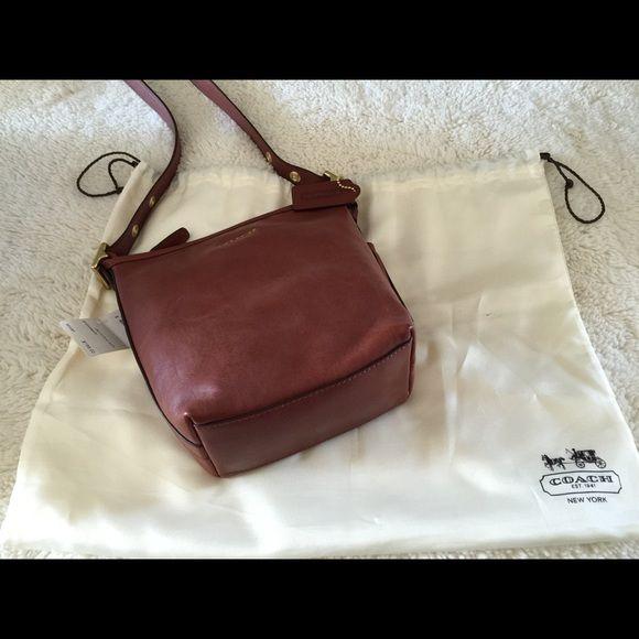 Coach Crossbody bag. NWT!!! Beautiful bag. Mini Duff, lovely cognac caee30165e