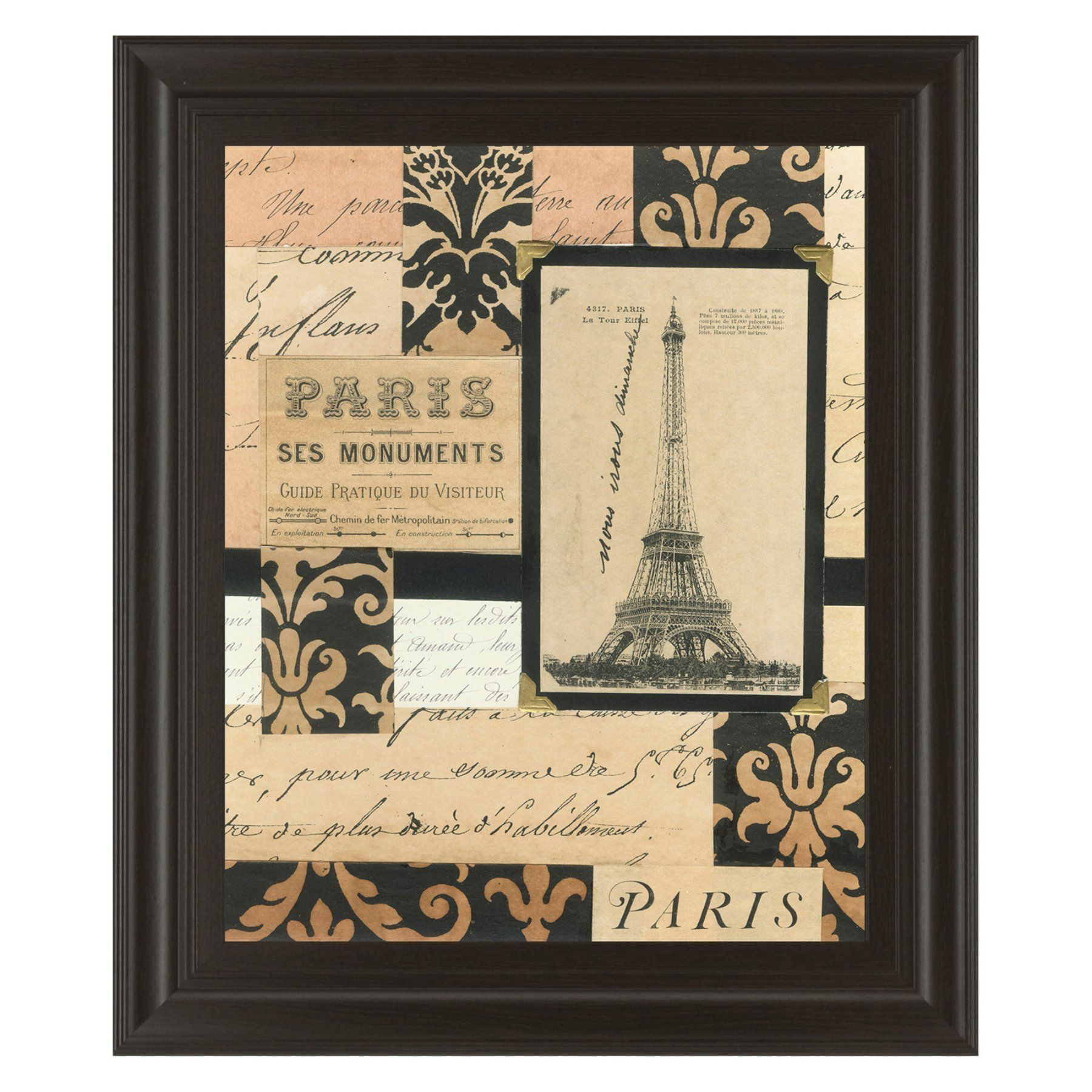Classy Art Travel Collage I Framed Wall Art - 22W x 26H in. - 4848