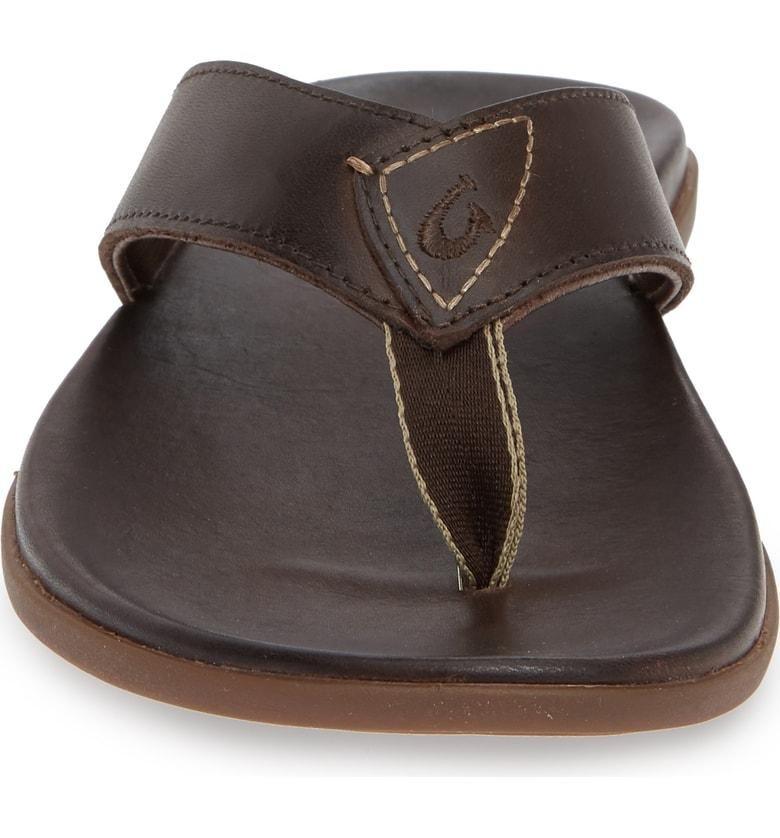 Nalukai Leather Flip-Flop Sandals
