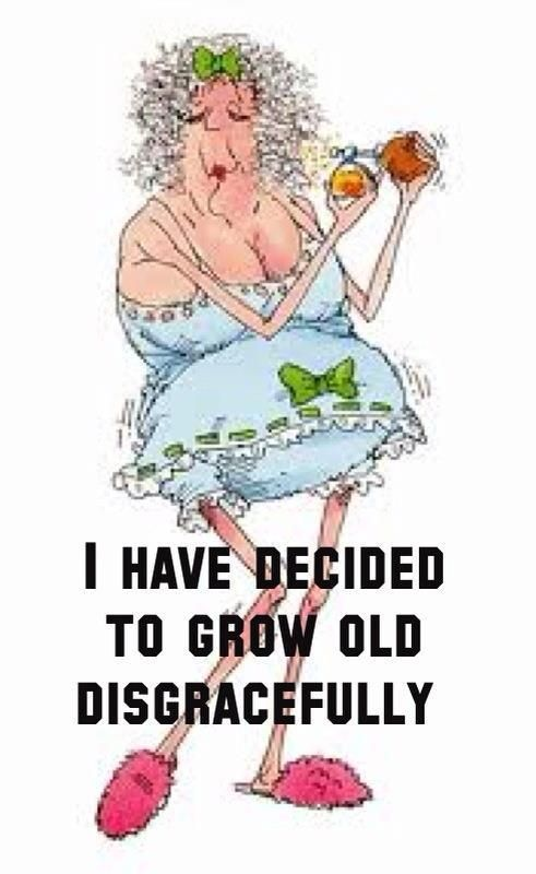 Grow Old Disgracefully Old Age Humor Funny Quotes Funny