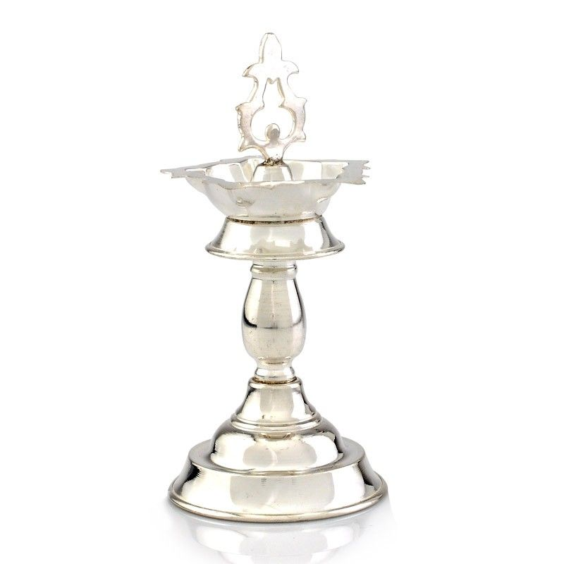 Lamp Small Gold Silver Brass Silver Lamp Silver Pooja