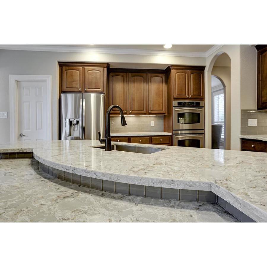 Allen Roth Titanium Swell Quartz Kitchen Countertop Sample Lowes Com Quartz Kitchen Countertops Kitchen Countertops