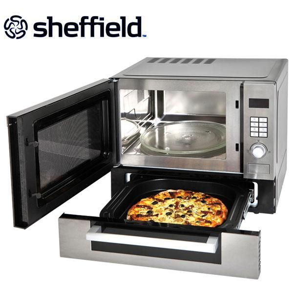 Sheffield 25 Litre Microwave Oven With Pizza Drawer Main