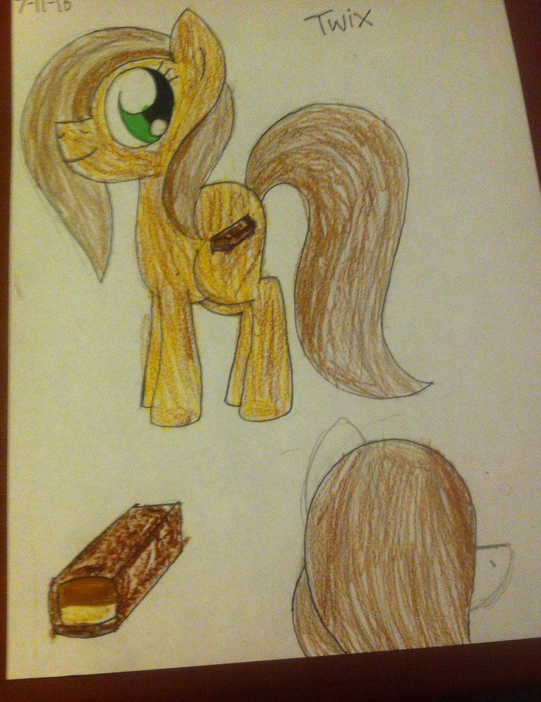 Gender:Female  species: Earth pony  Personality: Joyful,playful,friendly   Likes: Long manes and Tails  Dislikes: Other flavors other than chocolate and/or caramel  Favorite food: Chocolate,caramel,twix bars