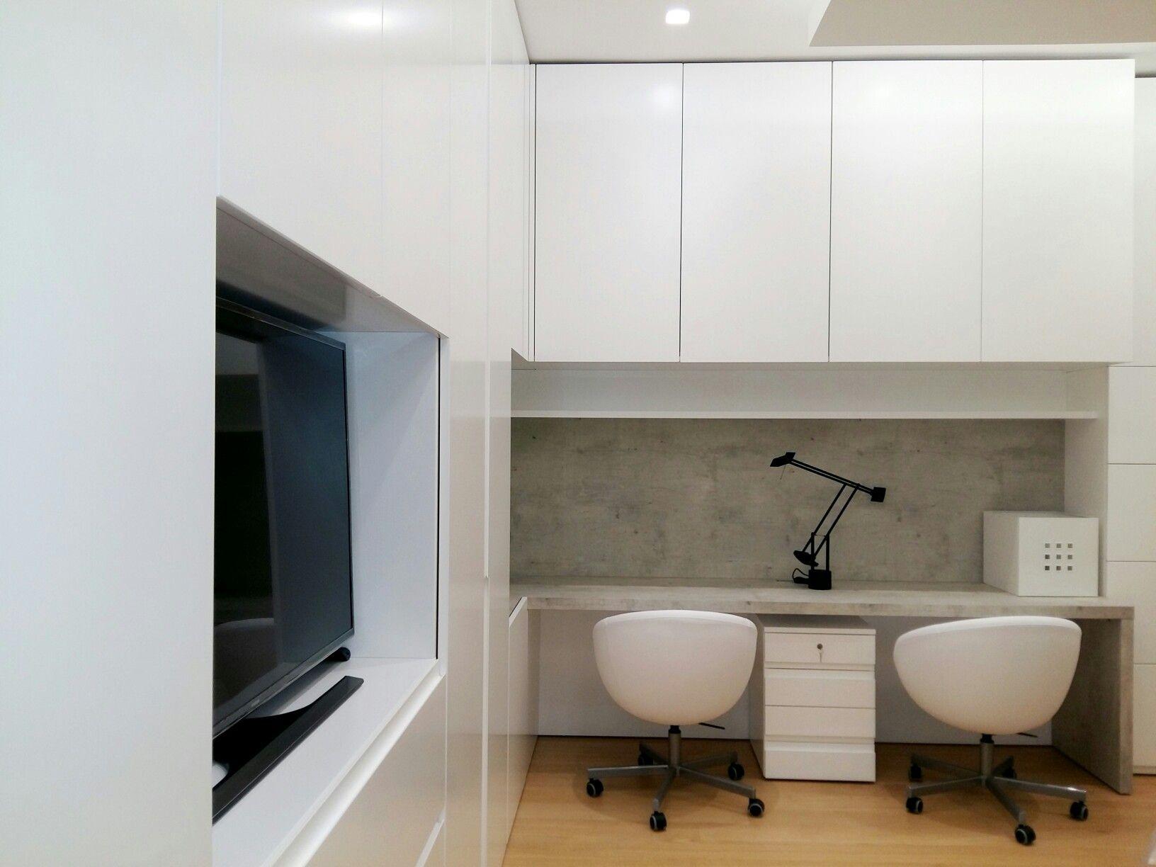 Armadio fisso camera da letto con angolo studio tlgstudioproject bedrooms pinterest - Angolo studio in camera da letto ...