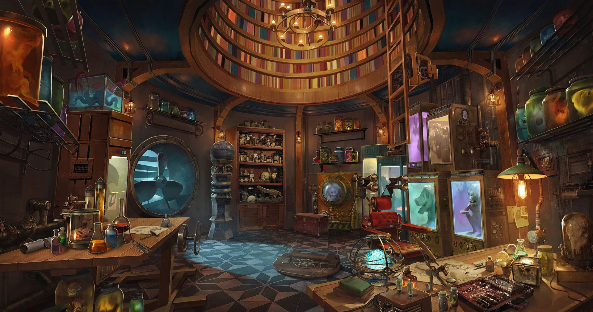 Artstation monster ego studios shawn lee fantasy art