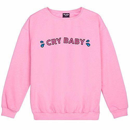 Minga London Cry Baby Sweater Top Sweatshirt Jumper Women S Pink