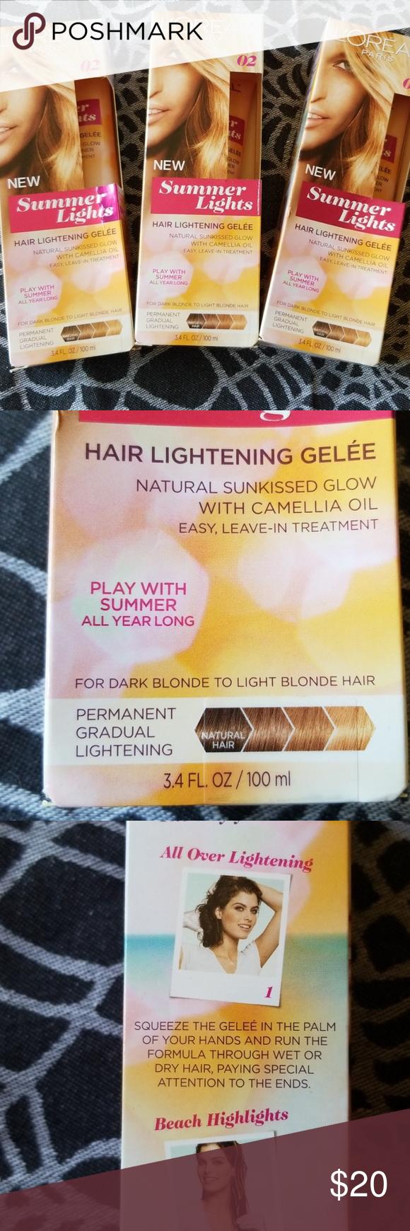 L Oreal Summer Lights Hair Lightwning Gelee L Oreal Summer Lights Hair Lightening Gelee All 3 Boxes New And Sealed Light Hair How To Lighten Hair Light Summer