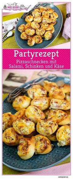 Easy Party Rezept – Pizzaschnecken mit Salami, Schinken und Käse