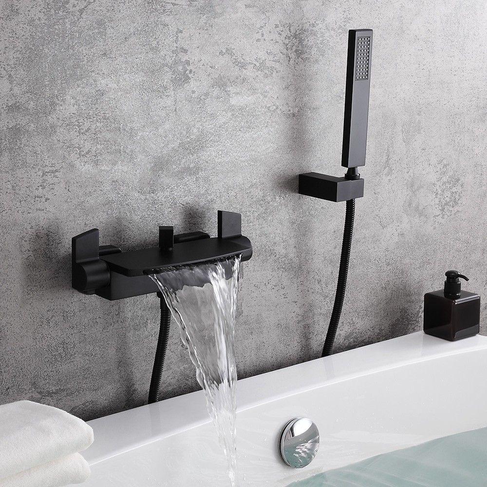 black bathtub faucet