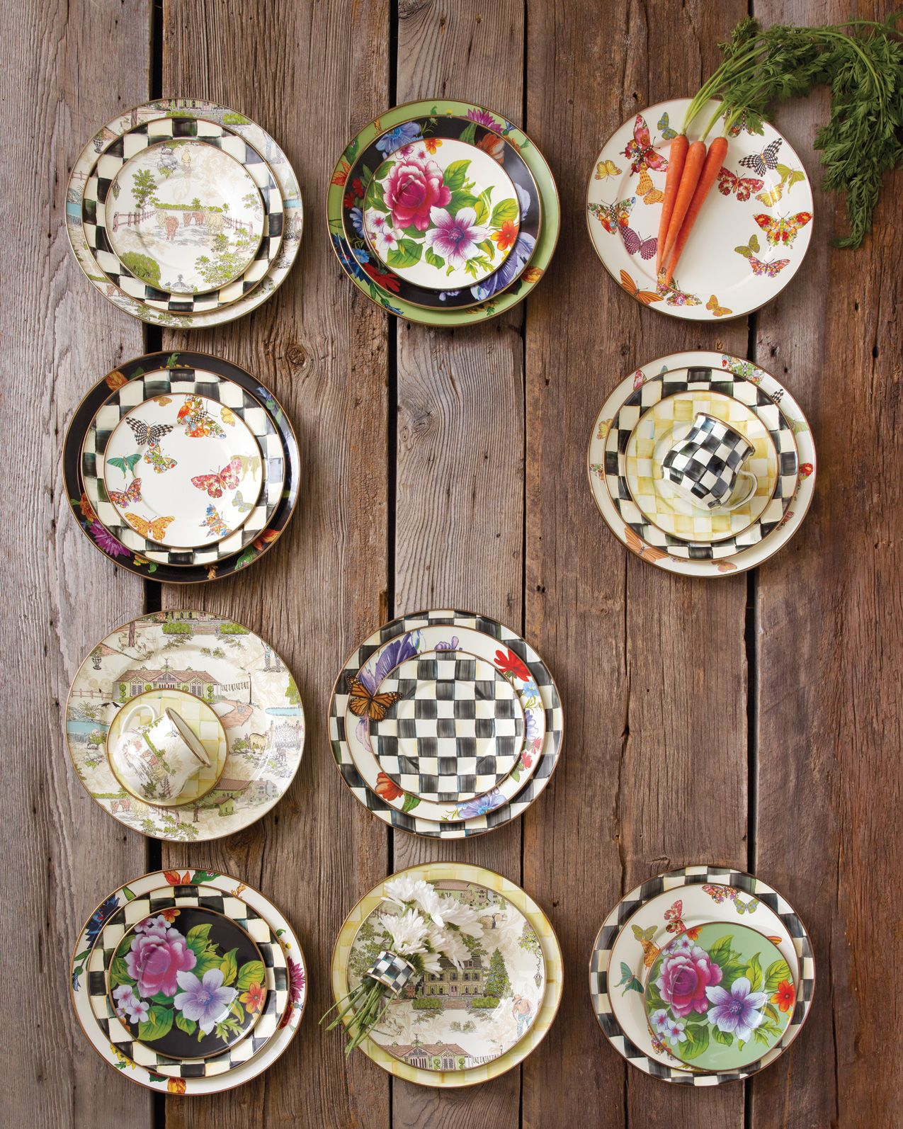 d2b2c961c3a7 Mix it up with MacKenzie-Childs! – Mix n  match for a fun and eclectic  table!  MacKenzie-Childs