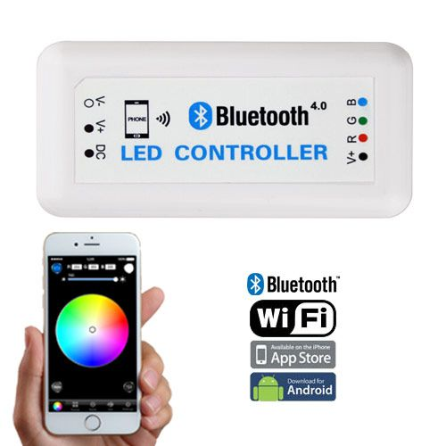 Dc1224v max 12a bluetooth 40 wifi control via ios android smart dc1224v max 12a bluetooth 40 wifi control via ios android smart phone tablet led light stripsled audiocablefo