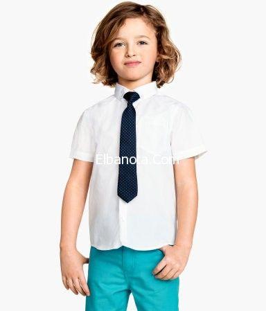 ملابس صيفى للاطفال ملابس اطفال اولاد ملابس اطفال ماركات طفولة وأمومة عالم المرأة بنوته كافيه Kids Fashion Cotton Shirt H M Shorts