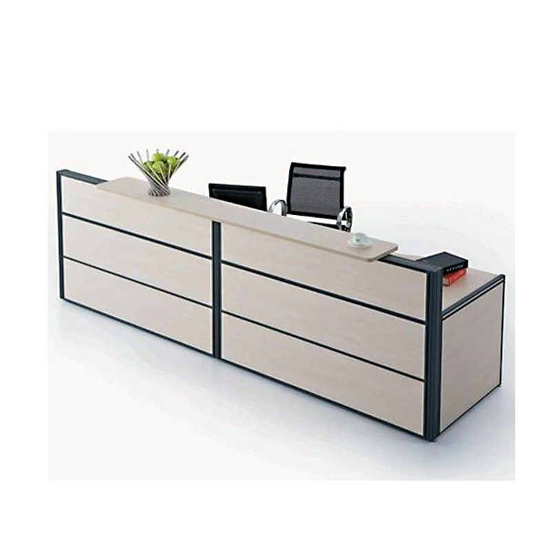 Modern Simple Design Reception Counter Furniture Fancy Office Table