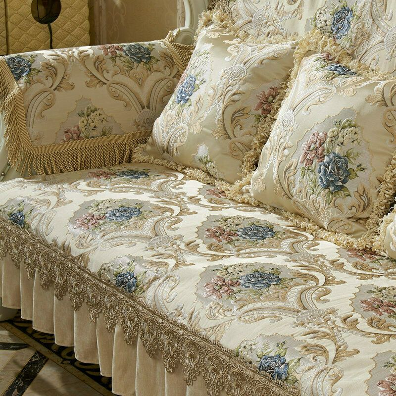 European High Density Lace Sofa Covers 2 3 Seater Slipcover Couch Protector Mat Sofa Slipcover Ideas Of Sofa In 2020 Luxury Sofa Slip Covers Couch Slipcovered Sofa
