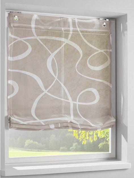 heine home -99453- 1 Stück Raffrollo Farbe grün Einfache Montage mit Haken