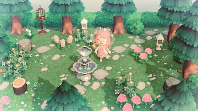 I created a little hidden fairy Garden and I love it ...