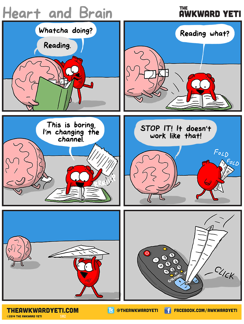 The Awkward Yeti comics. Funny humor and oddities. Have a laugh and check out their work! Plush toys and lots of goodies on their site http://theawkwardyeti.com