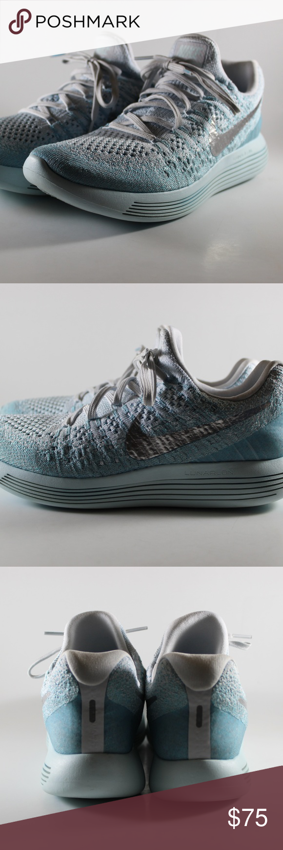 4a1c51380e8b NIKE LUNAREPIC LOW FLYKNIT 2 RUNNING SHOES WOMEN NIKE LUNAREPIC LOW FLYKNIT  2 RUNNING SHOES WOMEN 9.5 863780-405 GLACIER BLUE Nike Shoes Athletic Shoes
