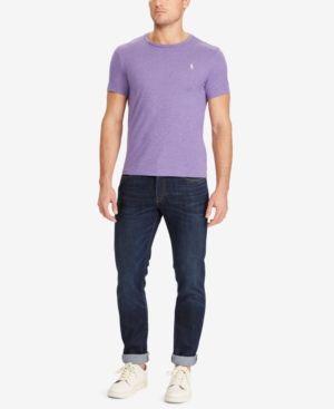 ecbeb7932 Polo Ralph Lauren Men's Custom Fit Cotton T-Shirt - Safari Purple Heather  XXL