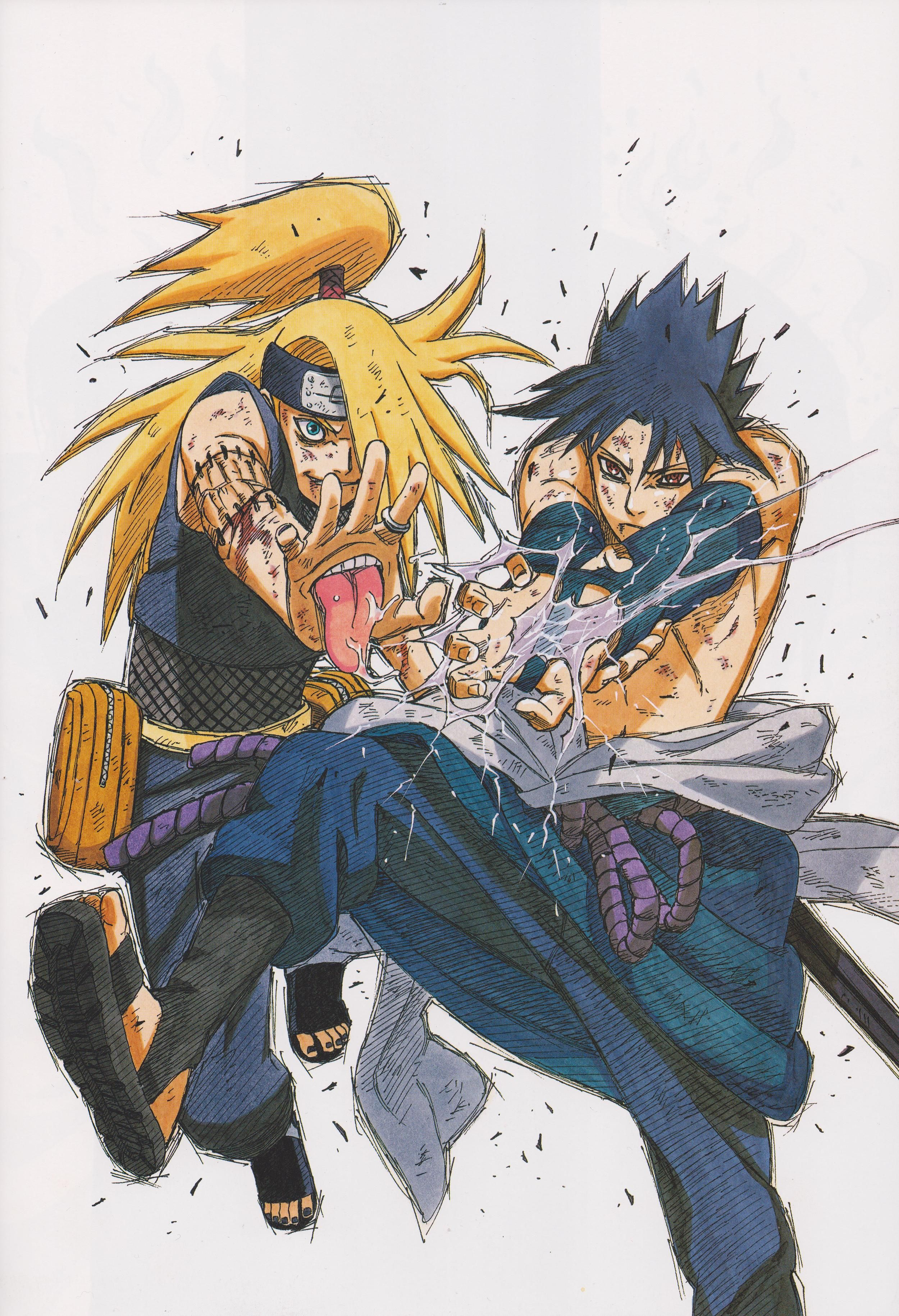 I Love the artist (Masashi Kishimoto) the creator of this Manga. his visual style and skill with traditional mediums like ink and coloured markers is amazing.