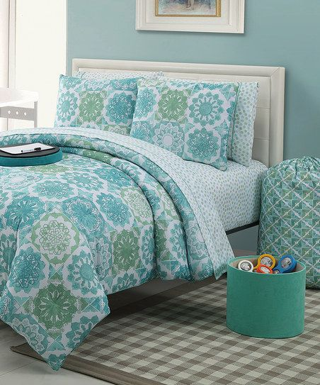 Blue Isadora Comforter Set Comforter Sets Full