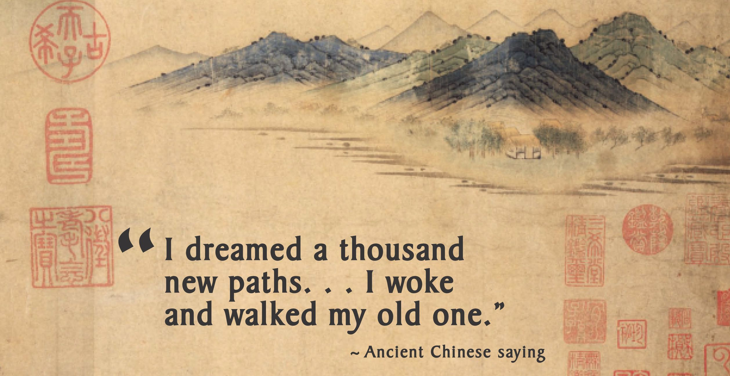 Chinese proverb-thousand paths | Words quotes, Japanese ...
