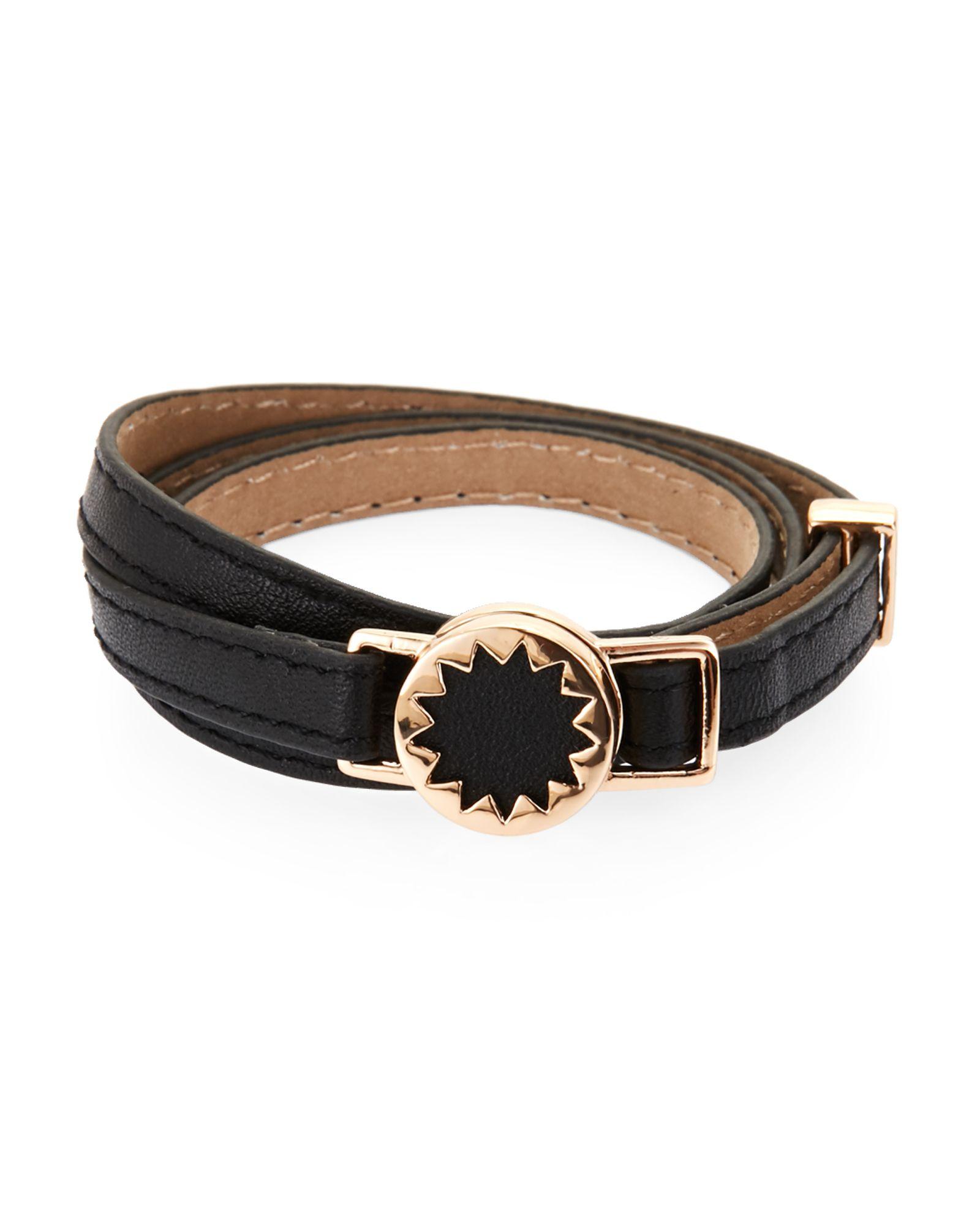 House Of Harlow 1960 Sunburst Leather Wrap Bracelet