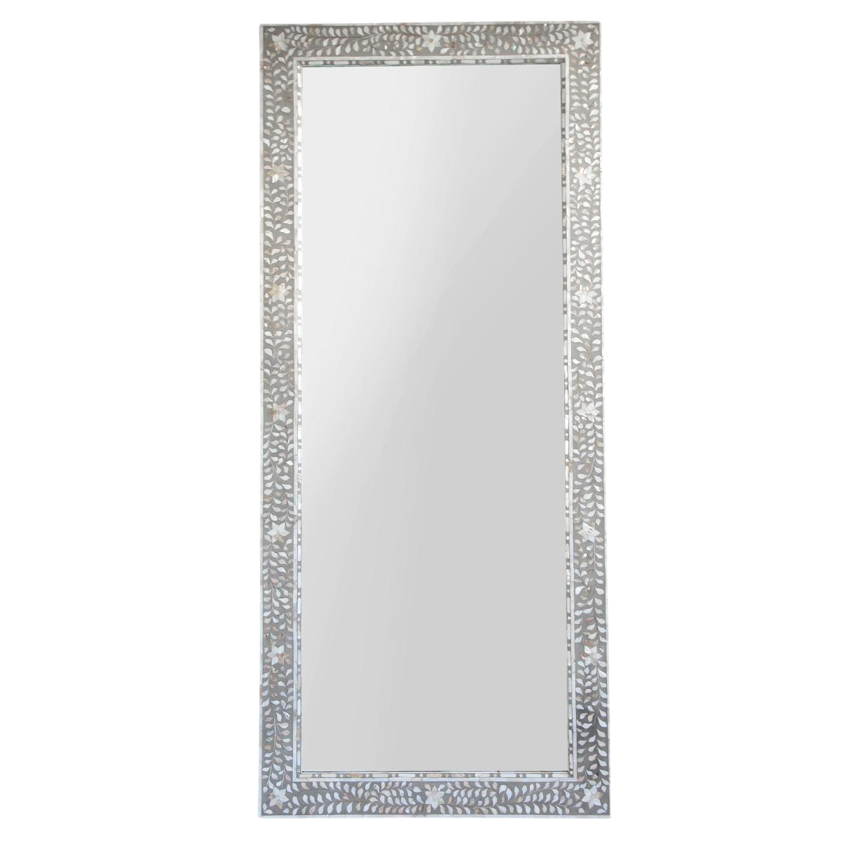 Inlaid Mother Of Pearl Full Length Mirror On Chairish Com Full Length Mirror With Lights Mirror Mother Of Pearl Mirror