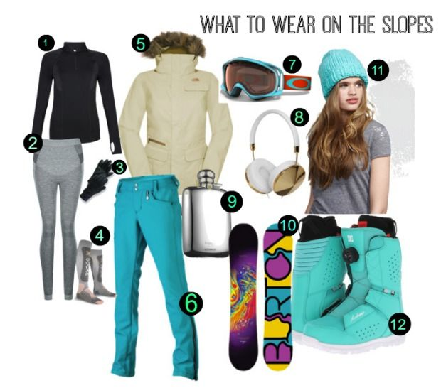 What to wear when skiing and snowboarding  Skiing  Fashion  Moodboard 09d1316d6
