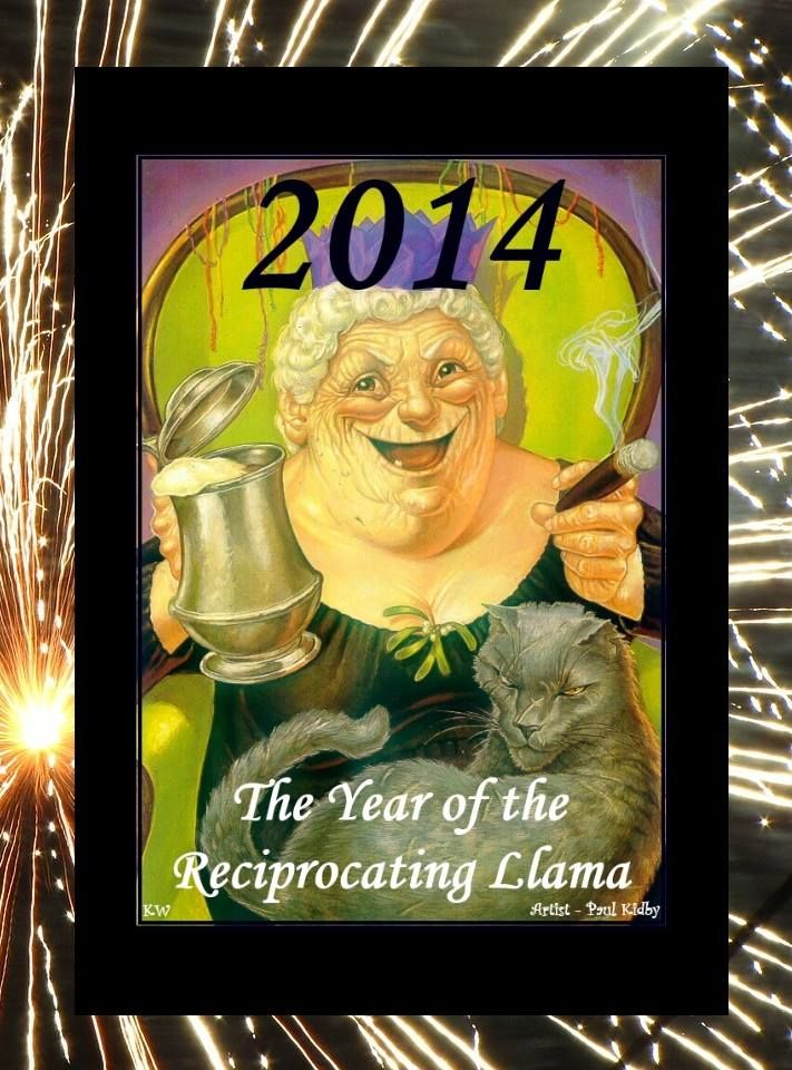 2014 The Year of the Reciprocating Llama, by Kim White. Artist Paul Kidby https://www.facebook.com/paulkidby
