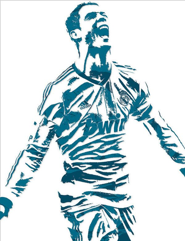 Cristiano Ronaldo Real Madrid Pixel Art 4 Art Print By Joe