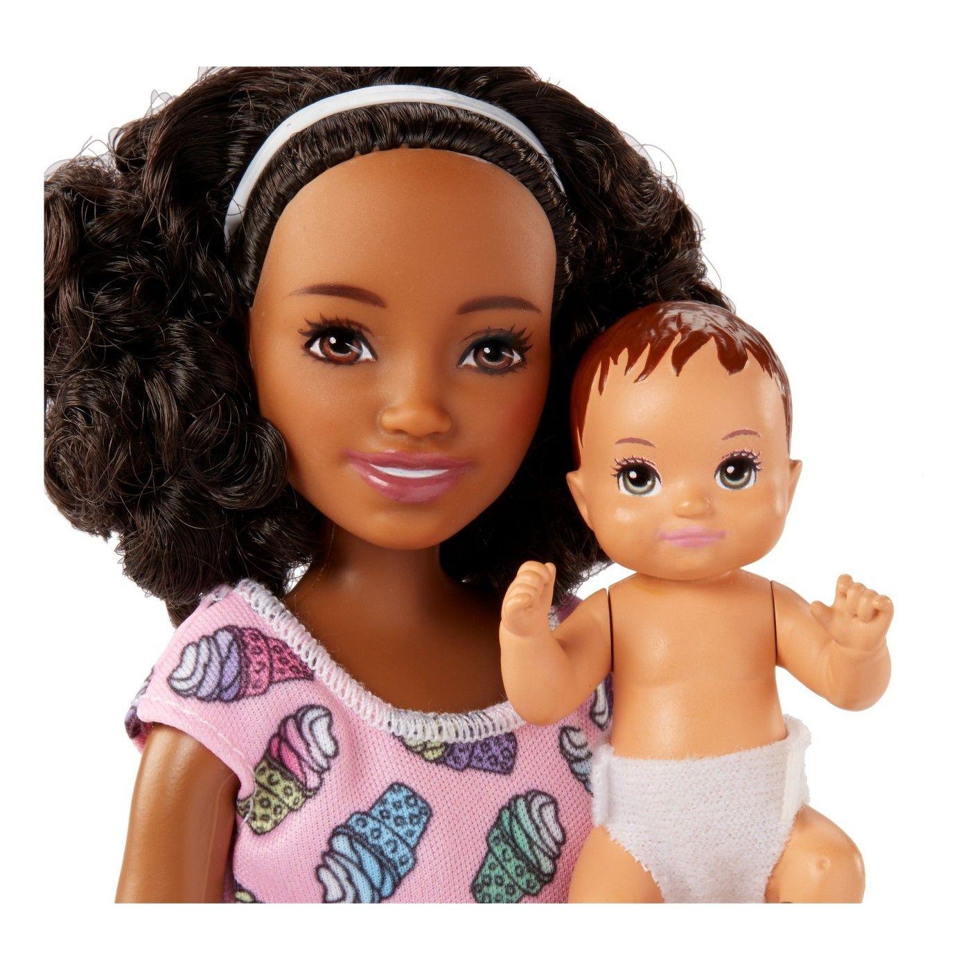 Barbie Skipper Babysitter Puppe Brünett