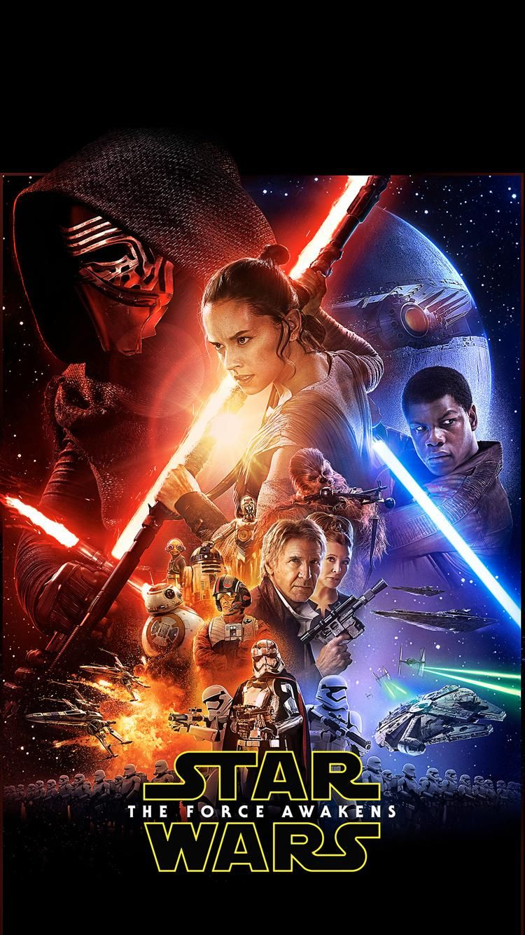 The Force Awakens Phone Wallpaper Star Wars Poster Star Wars