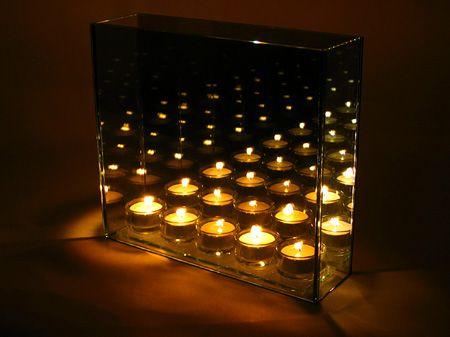 無限のキャンドル。 Votive Infinity Candle Stand Infinity And