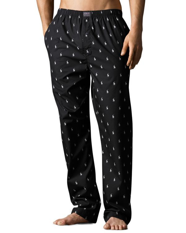 This comfortable pajama pant is crafted from soft cotton and designed with  an allover print featuring Ralph Lauren s signature pony. 6df1cb1c234f