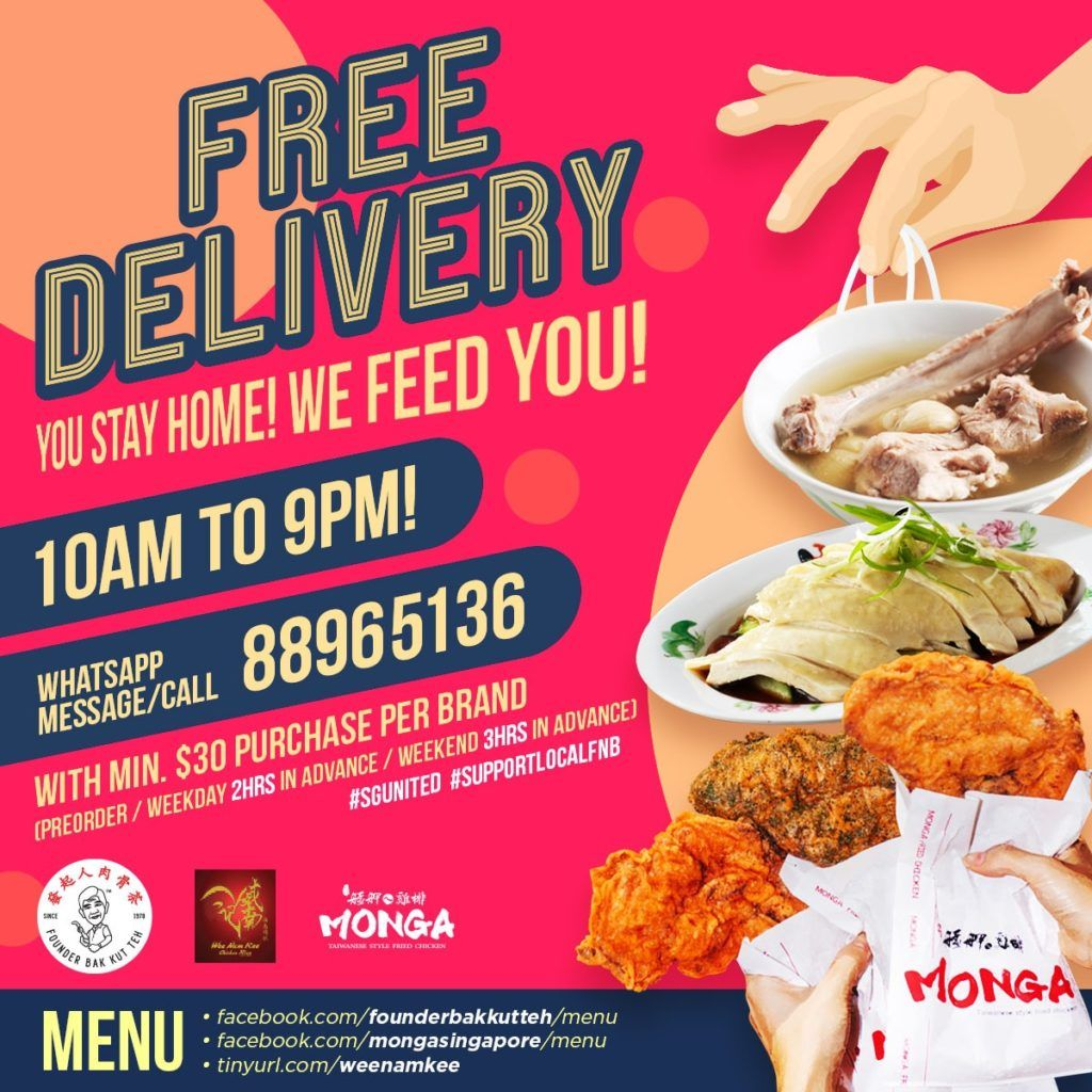 Enjoy Free Island Wide Delivery When You Order Monga Fried Chicken Founder Bak Fried Chicken Delivery Menu Enjoyment