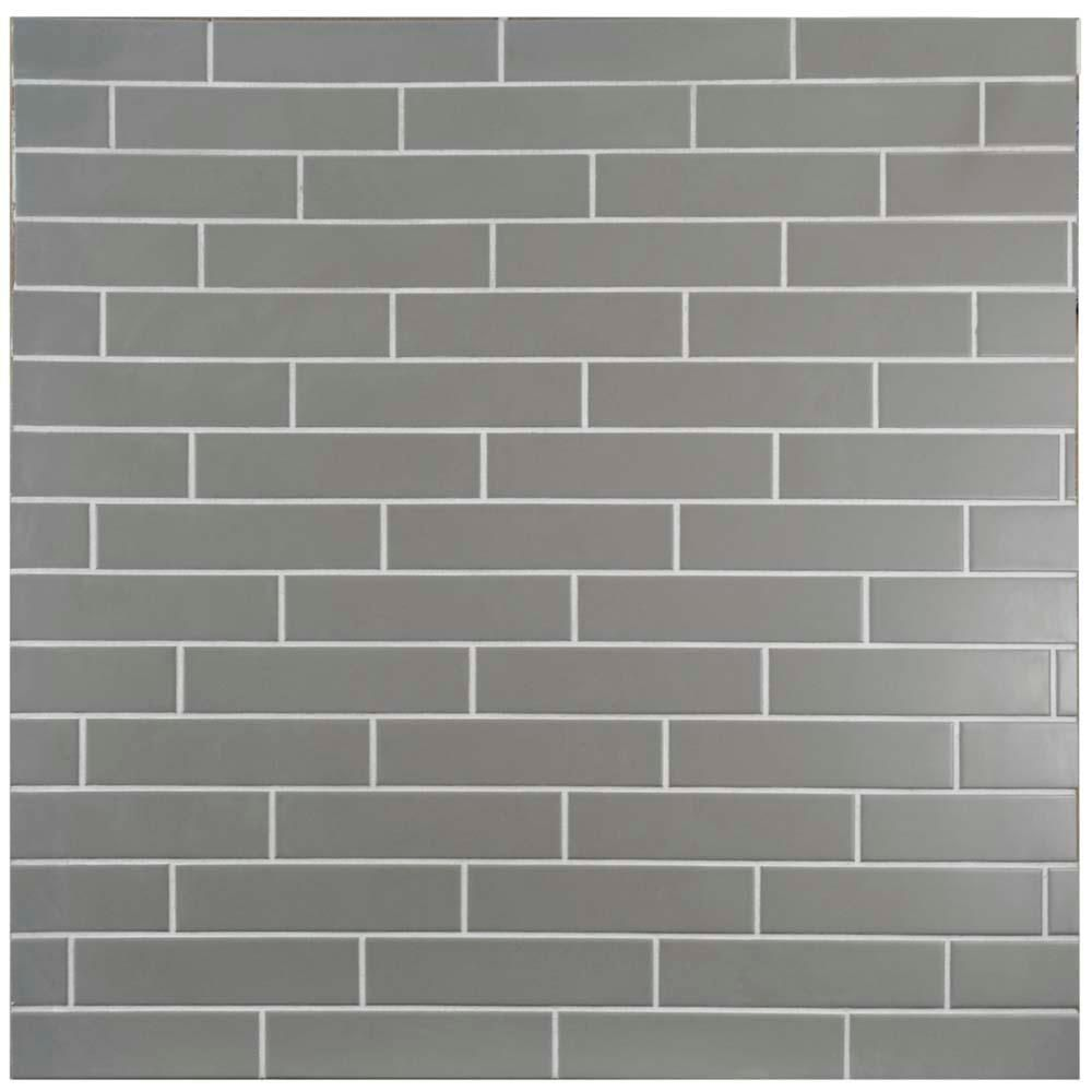 Merola Tile Metro Soho Subway Matte Light Grey 1 3 4 In X 7 3 4 In Porcelain Floor And Wall Tile 1 Sq Ft Pack Porcelain Flooring Elitetile Subway Tile