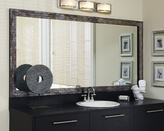 Frame It Makeovers Frame A Bathroom Mirror Framing Existing