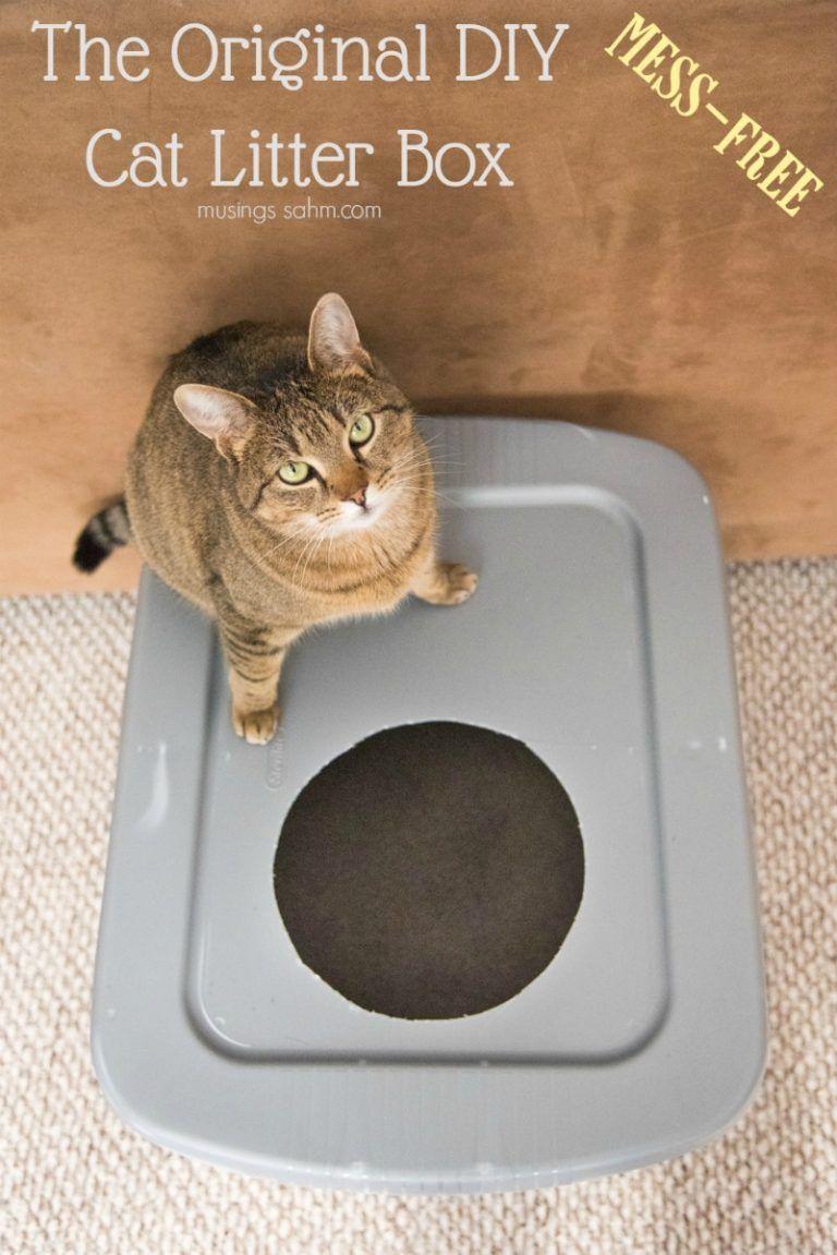 The Original Diy Mess Free Cat Litter Box Diy Litter Box Litter Box Cat Litter Box
