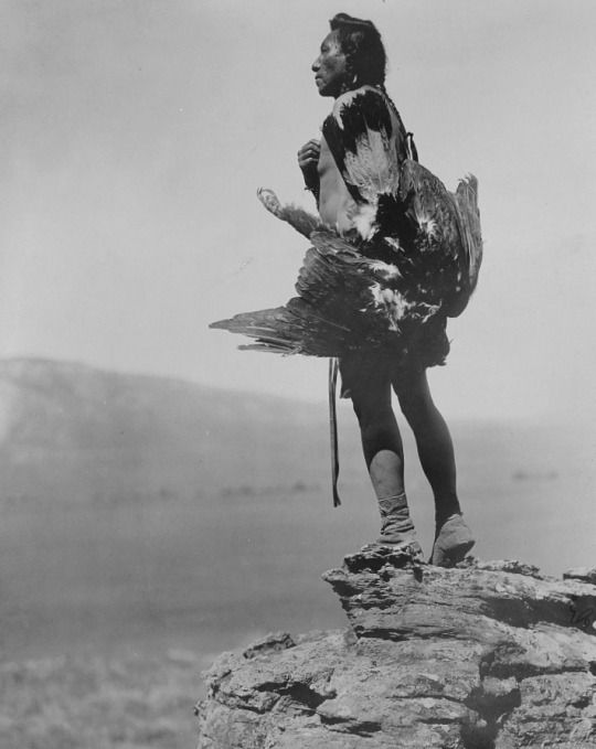 Edward S. Curtis. The Eagle Catcher, Hidatsa. 1908