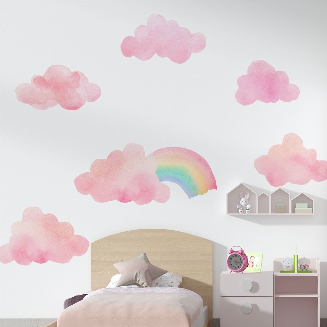 Stickers – Set The Rainbow And The Pink Bubbles
