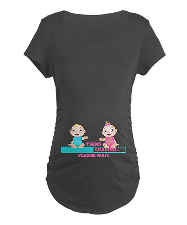 a370e015a6 I want it ! ! ! Charcoal 'Twins Loading' Maternity Tee - Women & Plus by  CafePress on #zulily