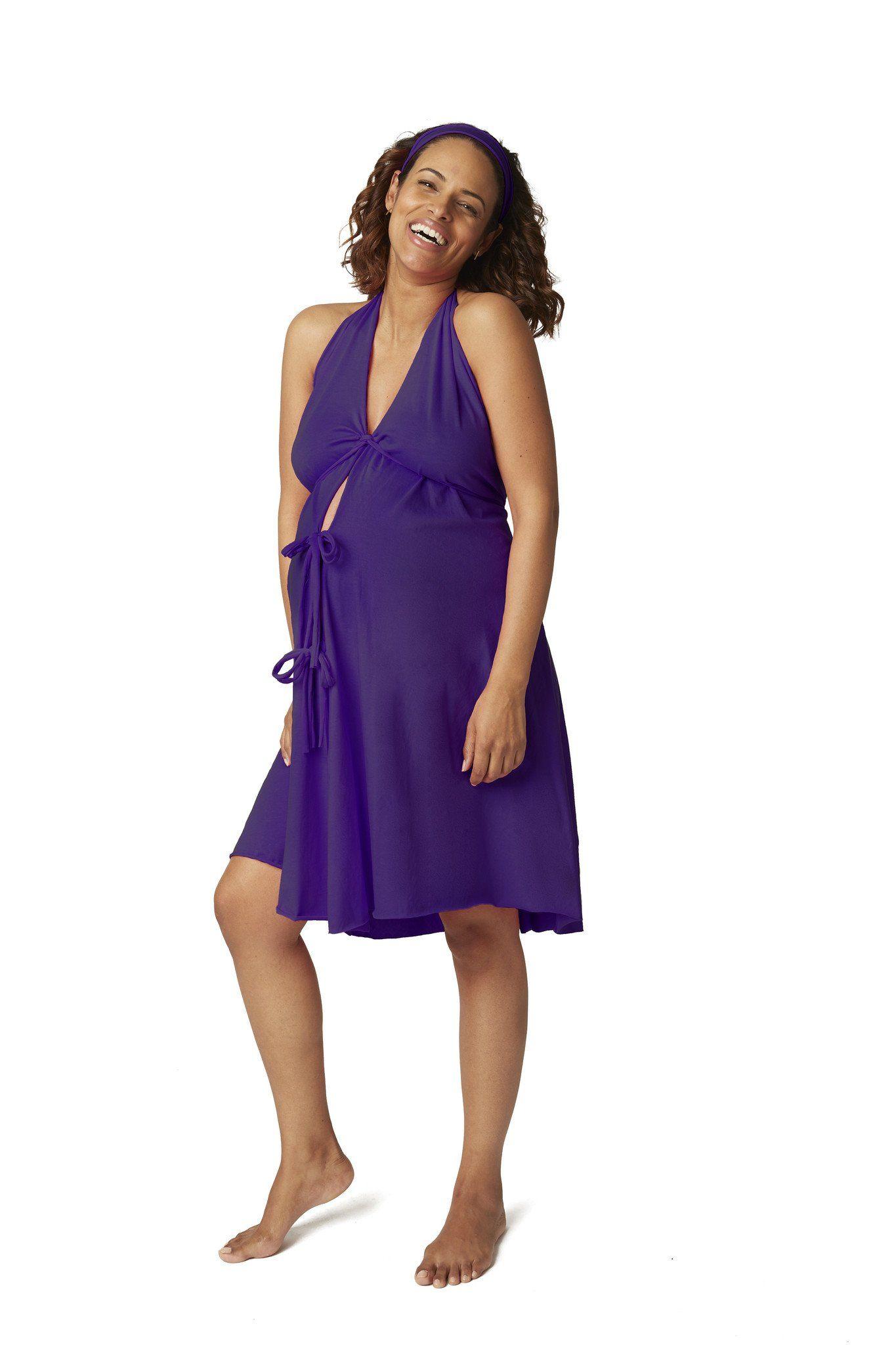 Original Labor & Delivery Gowns - Navy / Plus Size (18-26 pre ...