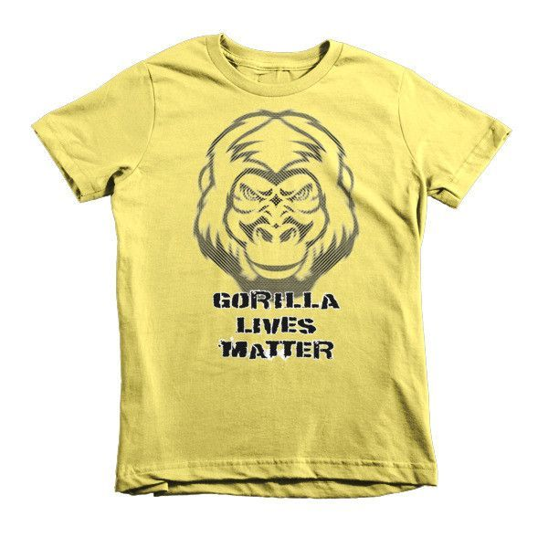 Gorilla Lives Matter Short sleeve kids t-shirt