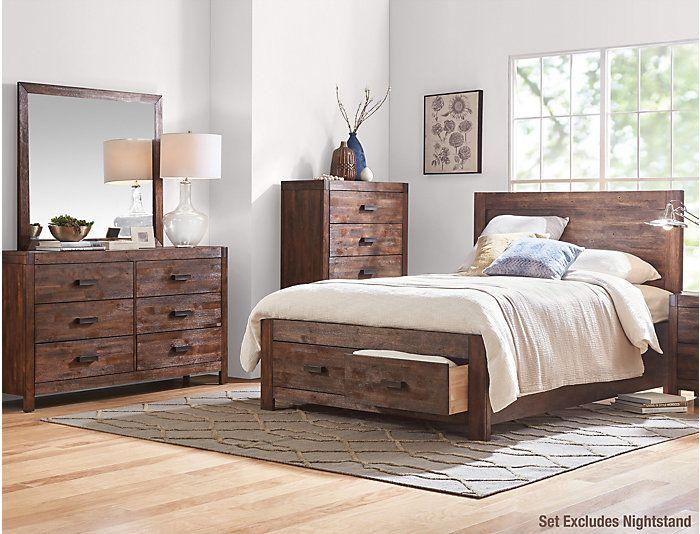 Best Warner Chestnut King Bedroom Set Outlet At Art Van With 640 x 480