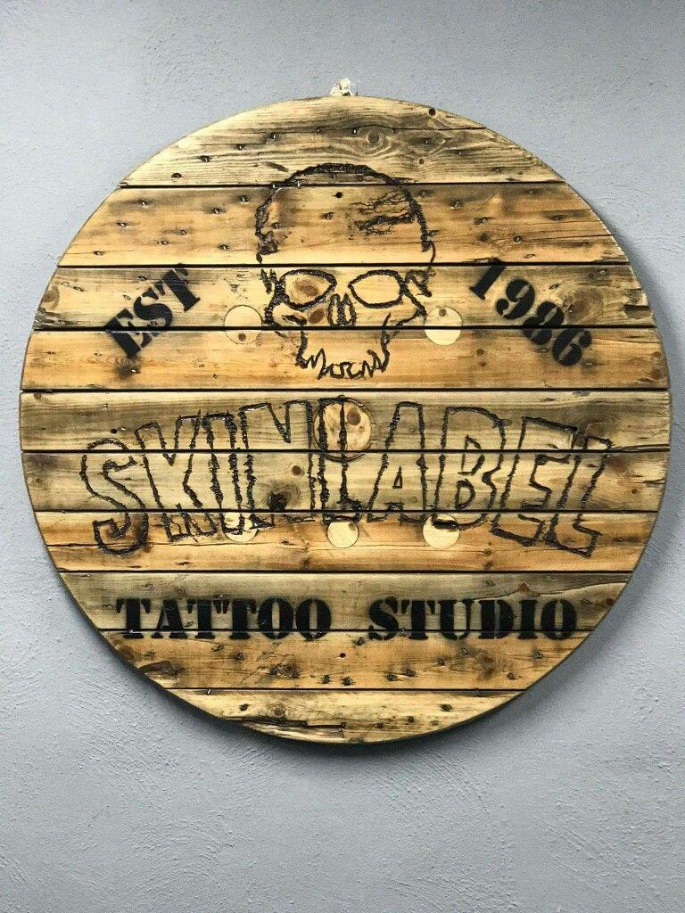 Fractal Wood Burning Lichtenberg Skinlabel Tattoo Studio Logo Lichtenberg Studio Logo Wood Burning