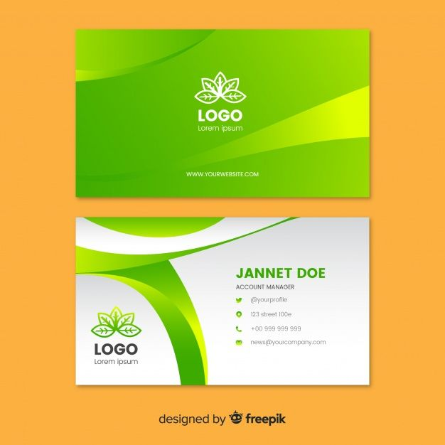 Download Business Card With Nature Concept For Free Professional