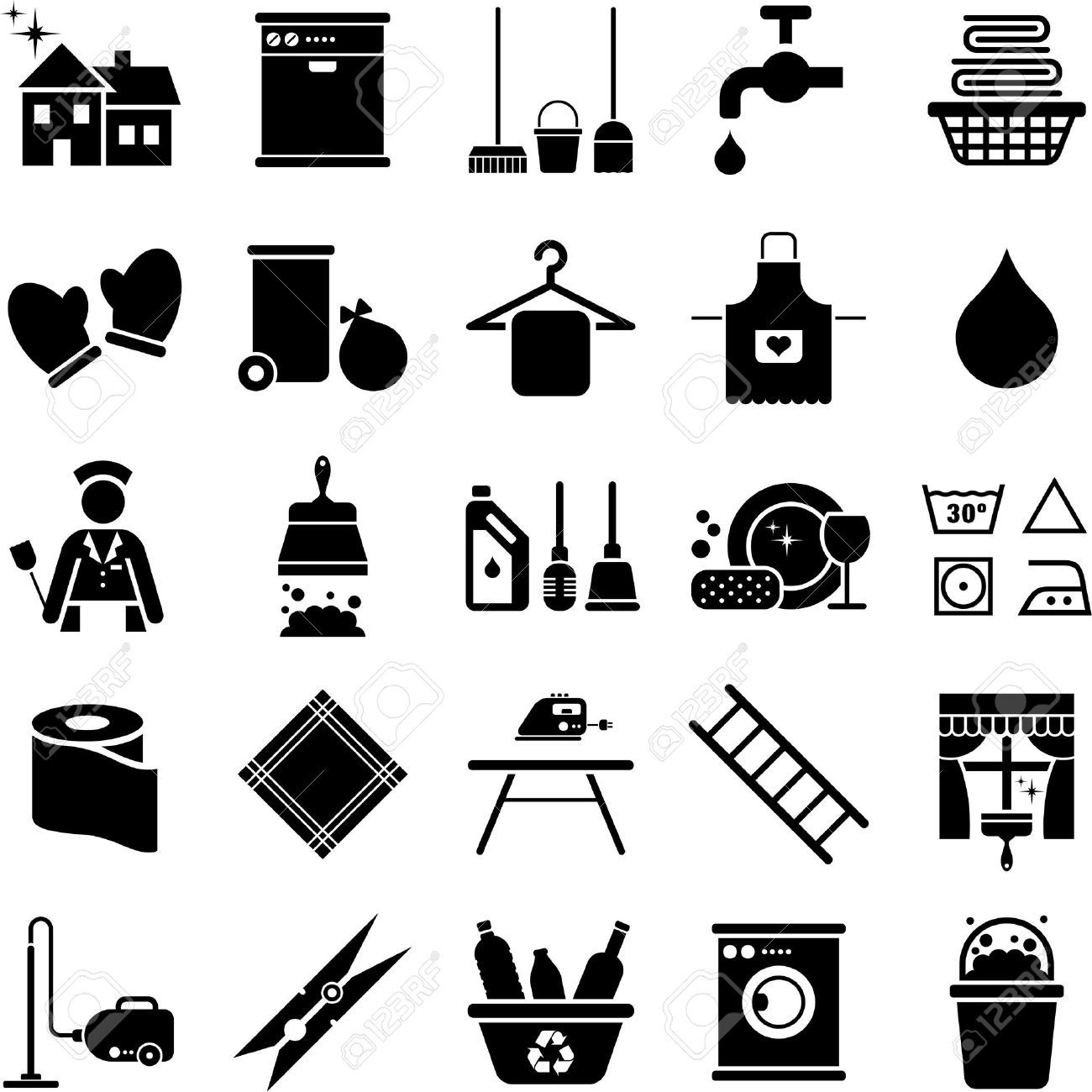Pin By Kayla Fox On Household Silhouettes Vectors